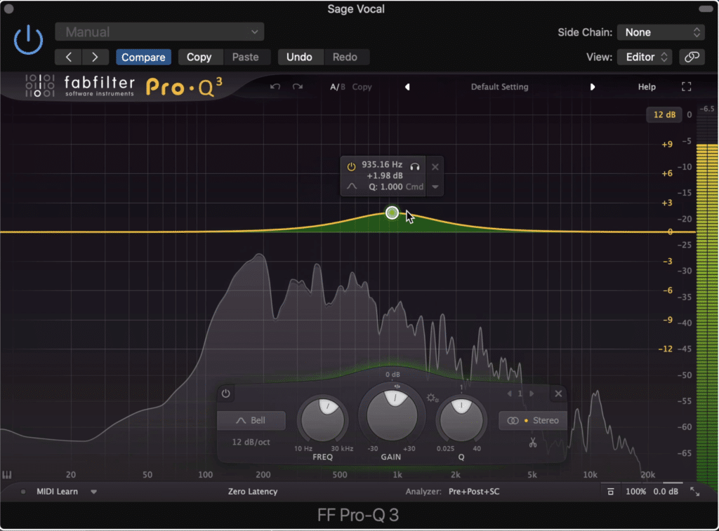 Amplify aspects of the recording that make it sound clear, full, and balanced.