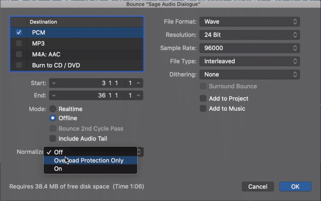 You may have noticed the option to normalize your dialogue in your DAW.