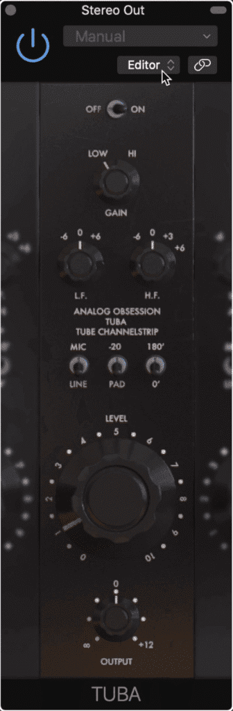 The TUBA is also by Analog Obsession and emulates the sound of tube-based channel strips.