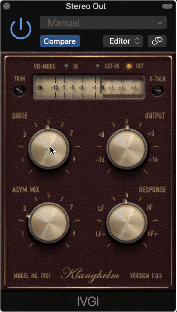 The IVGI is a classic free saturation plugin.
