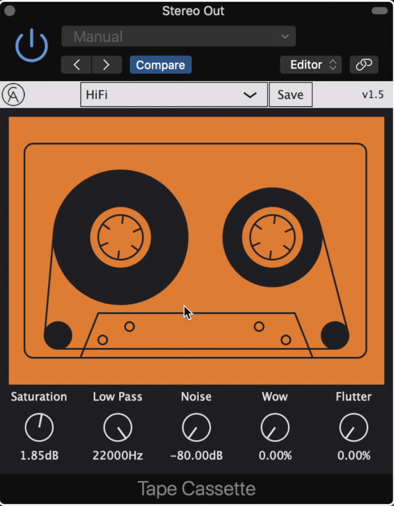 The Tape Cassette plugin is great for anyone looking for some unique saturation.
