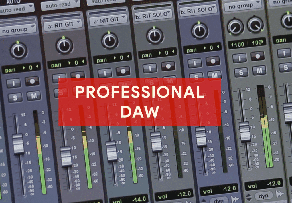 A professional DAW allows you to record at higher bit depths and sampling rates.