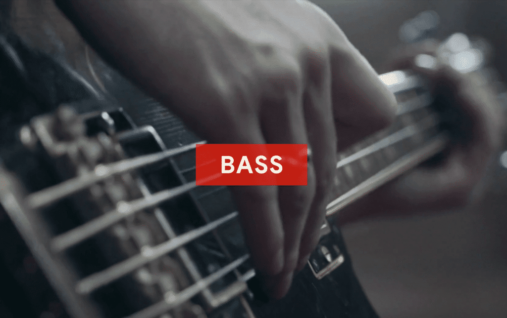 Bass closely follows the drums, and can be considered both melodic and percussive.