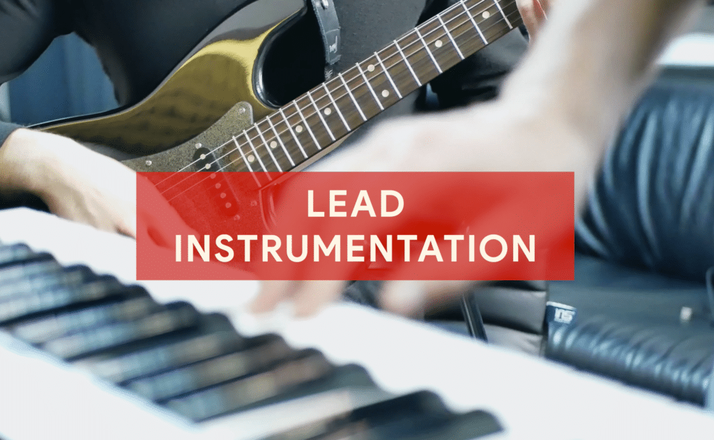 Lead instrumentation is recorded after the lead vocal to ensure it doesn't clash with the lead vocal.