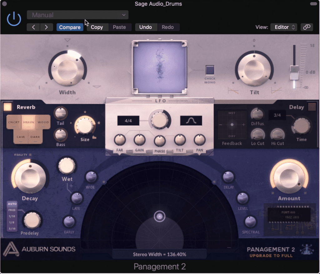 The Panagement Plugin is an incredibly powerful spatial design and LFO plugin.