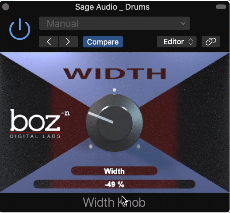 The Width plugin can inverse your signal's phase, and decrease the stereo width, but it can not increase it beyond its original width.