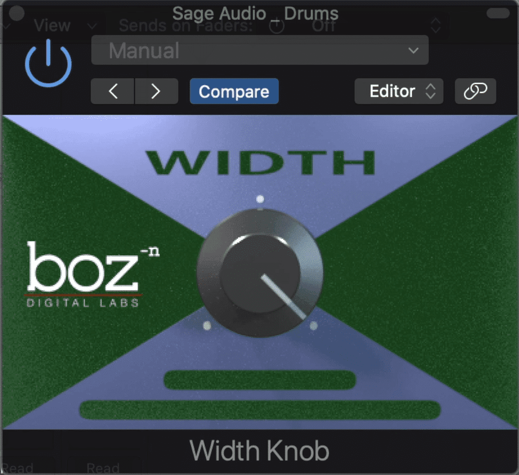 With the width knob to the full right, the plugin is essentially bypassed.