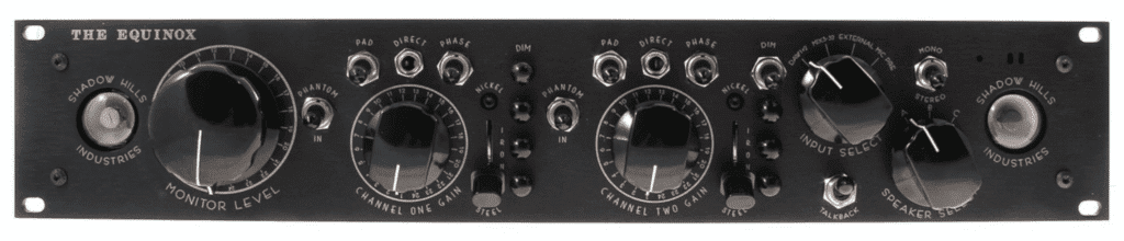 The Equinox is capable of monitor control, microphone amplification, and summing.