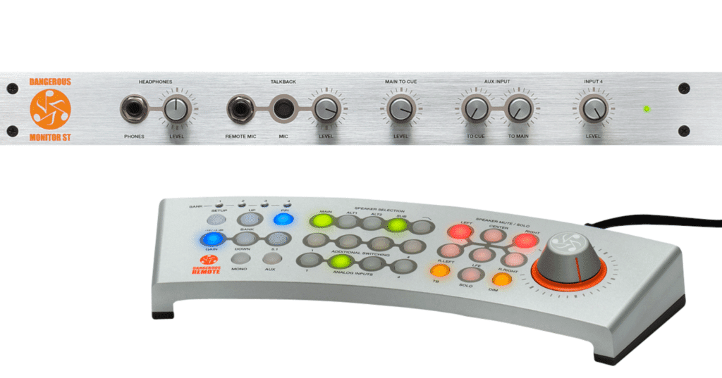 This unit is an all-analog console with a completely digital remote.