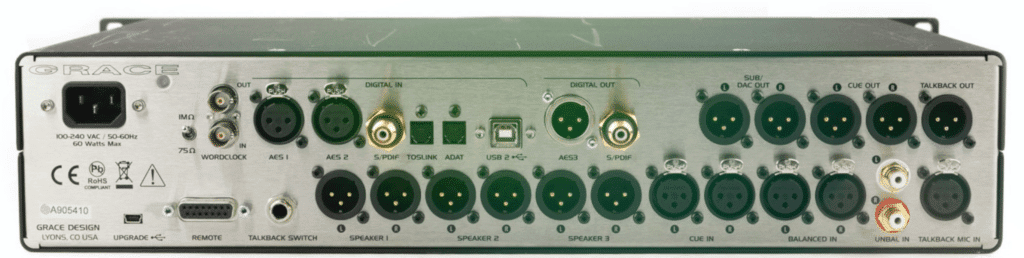 Like the m908, the m905 offers digital and analog integration.
