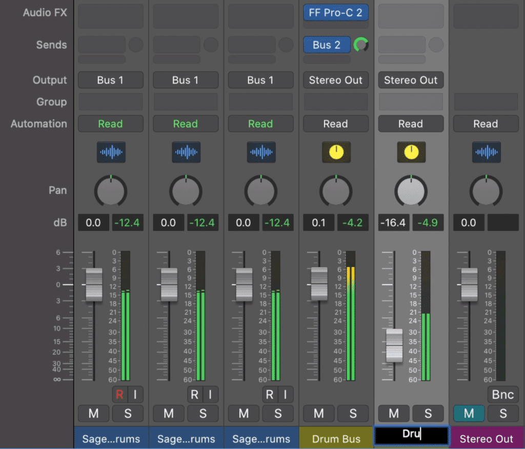 Rename your new parallel drum compression track so that you don't confuse it with another.