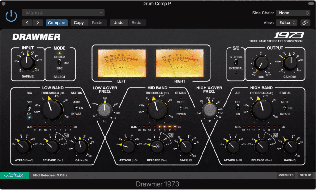 Use heavy compression and makeup gain to increase the amplitude of low-level signals.