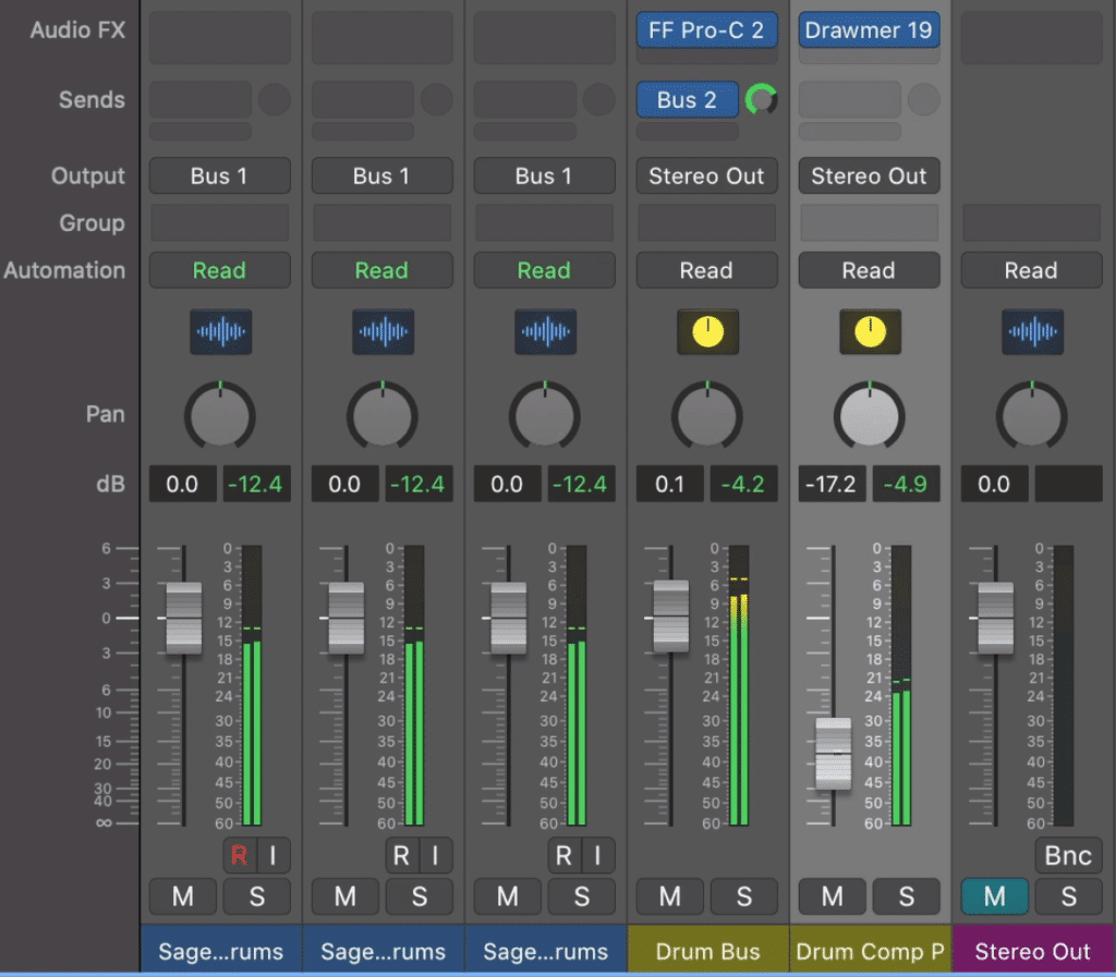 Blend the heavily compressed signal back into your mix.