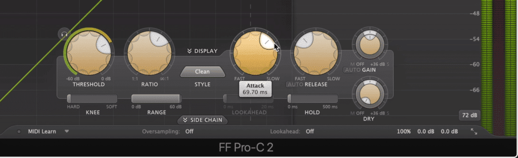 Notice the attack and release functions - both of which play a large role in shaping compression's timbre.