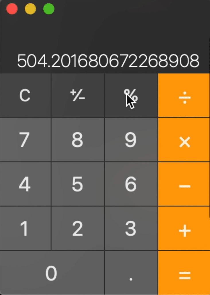 In this example, I divided 60000 by 119.