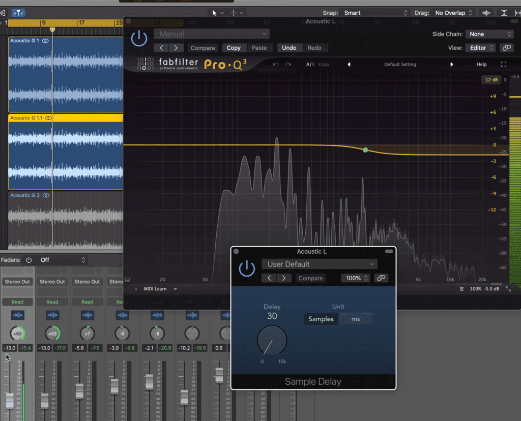 Combining sample delay and equalization works well