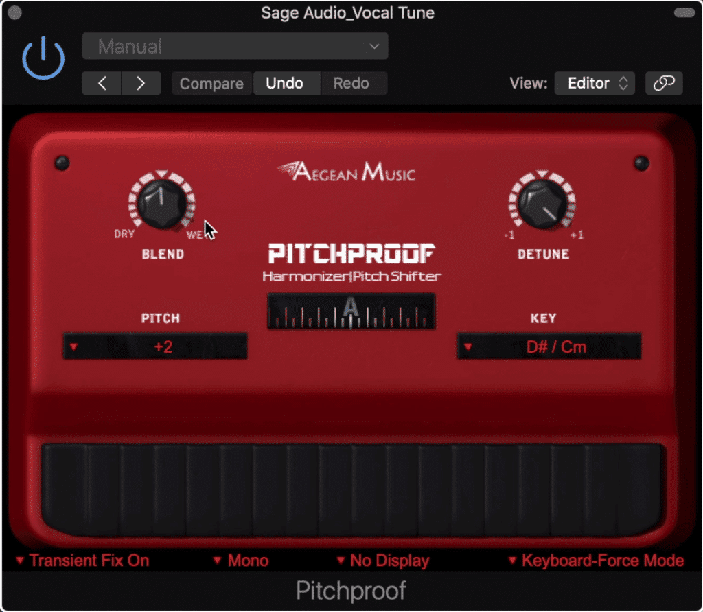 The PitchProof is used to create harmonies.