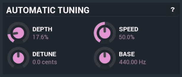 In this section, you control the speed and accuracy of your tuning.