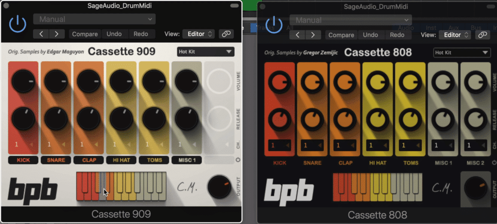 The Cassette 808 and 909 are also included in the download.