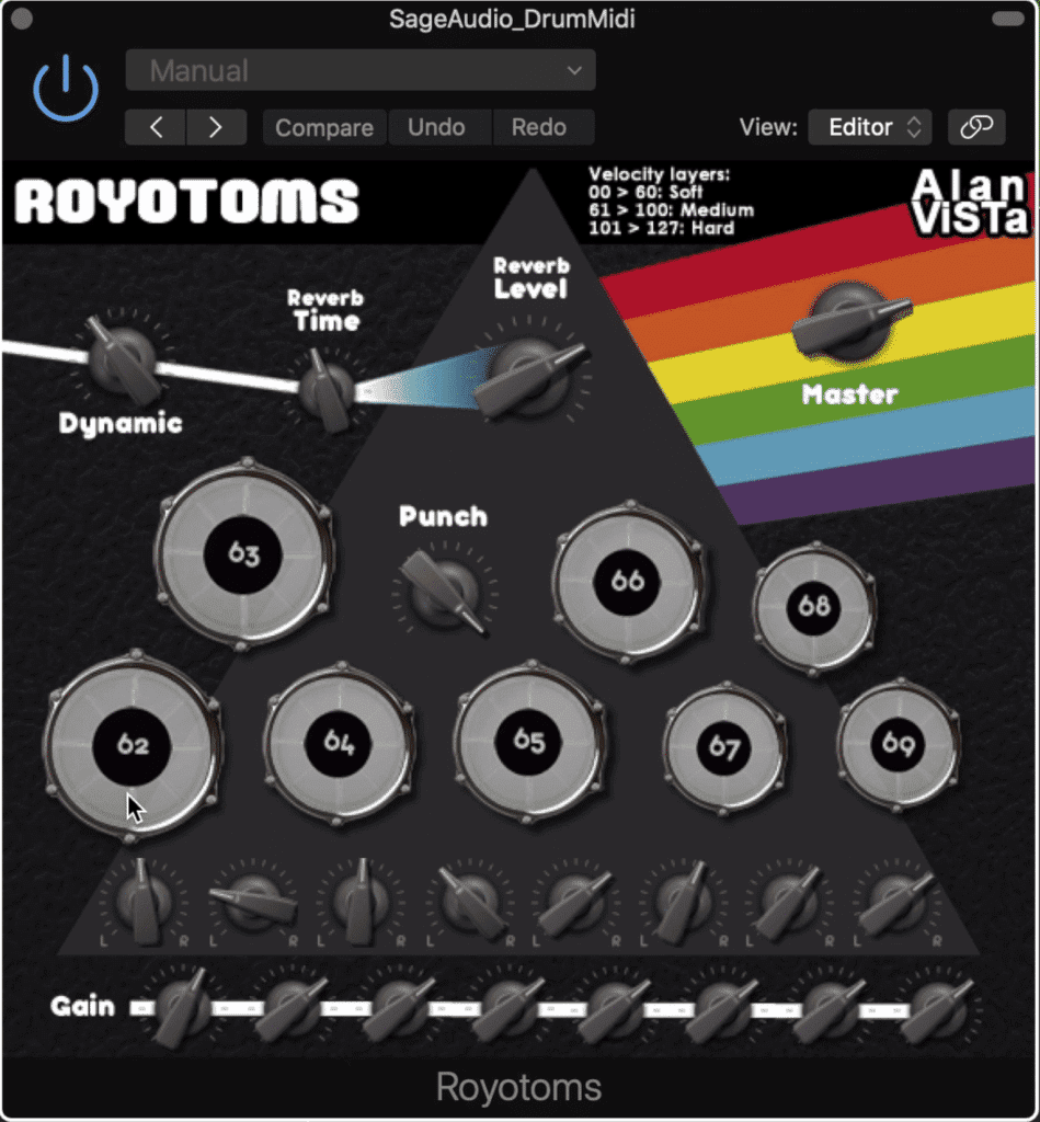 Royotoms focused on the tone of classic toms.