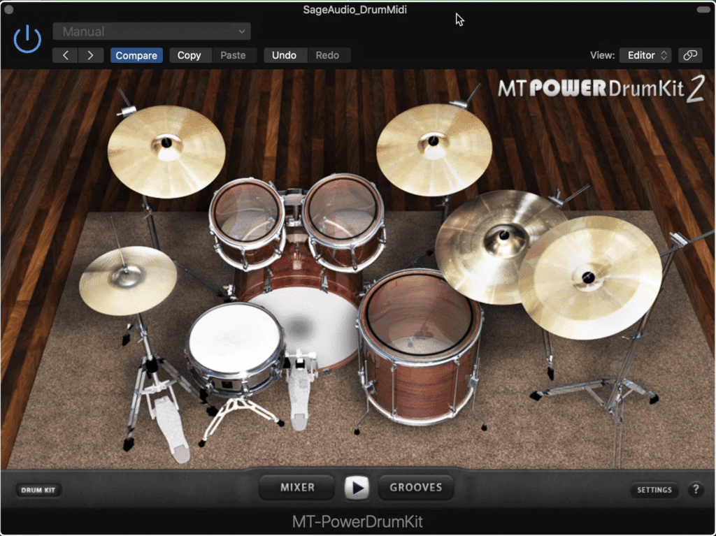 The MT Power DrumKit 2 is great for traditional rock sounds.