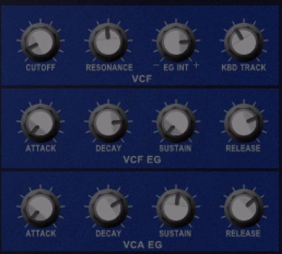 The VCF and VCF EG allows you to alter the envelope.