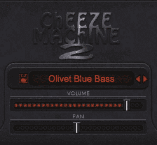 In the middle you can switch the preset, alter the volume, and adjust the pan