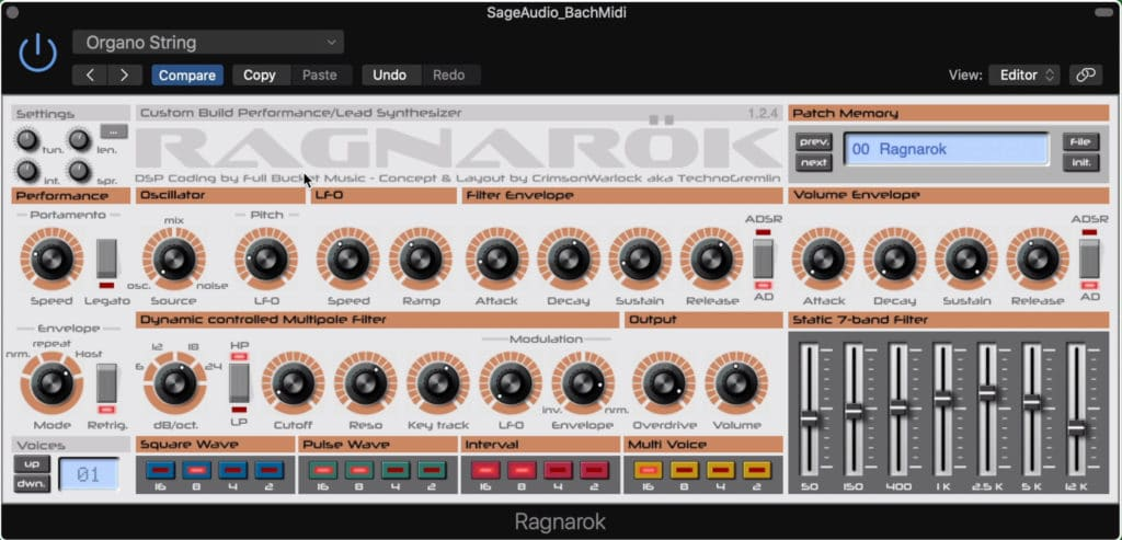 Ranganok is based on a one of a kind synth.