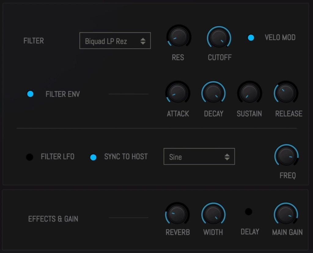 Here you can introduce filters, as well as effects.