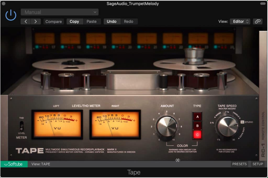 Use a tape machine plugin to emulate how the signal would have been stored in a classic recording setup.