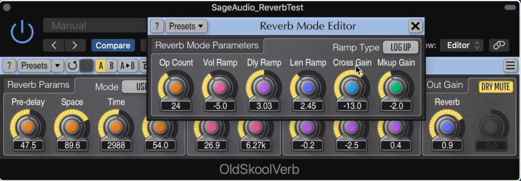 The Reverb Mode editor gives you even more options.
