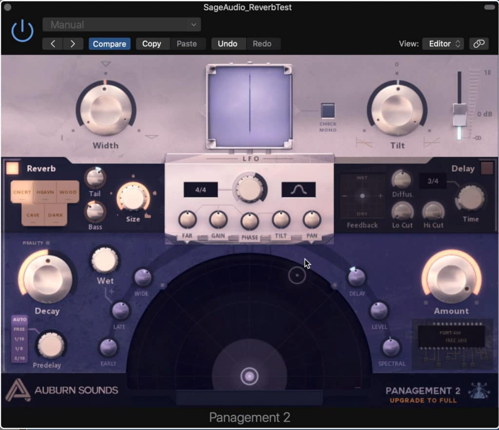 This is a multifaceted imaging plugin that includes a great reverb section.