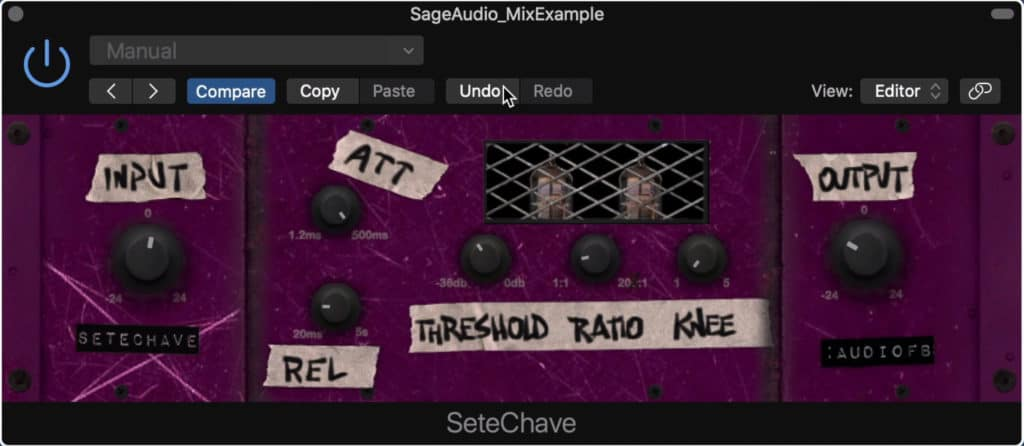 Sete Chave provides unique distortion and compression, unlike that of any stock plugin.