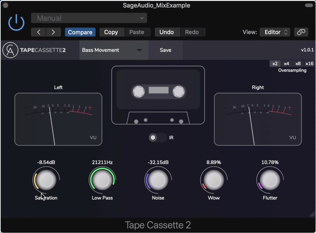 The Tape Cassette 2 plugin is an updated version of their original tape cassette plugin.