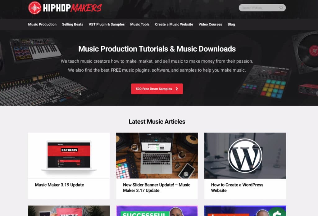 Hip-hop makers is a blog with a lot of links to various sample libraries.