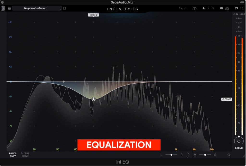 Equalization is used to balance and augment the frequency response.