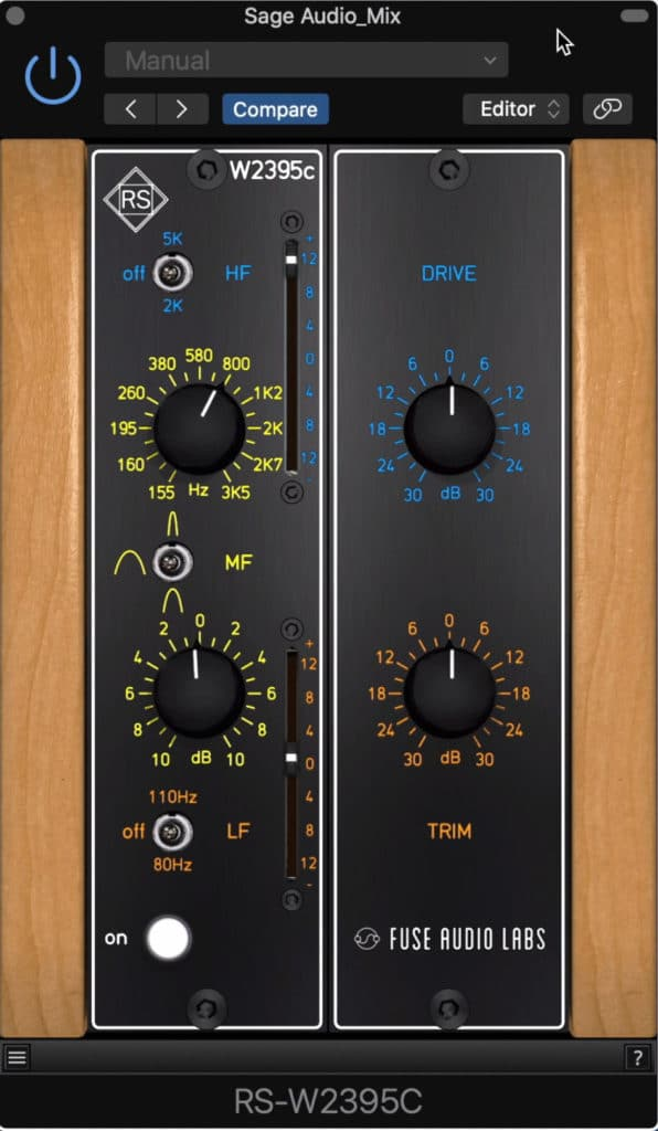 This plugin is a direct emulation of a 500 series equalizer.