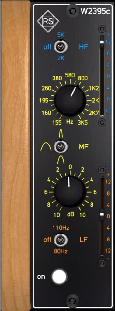On the left side of the plugin are the EQ controls.