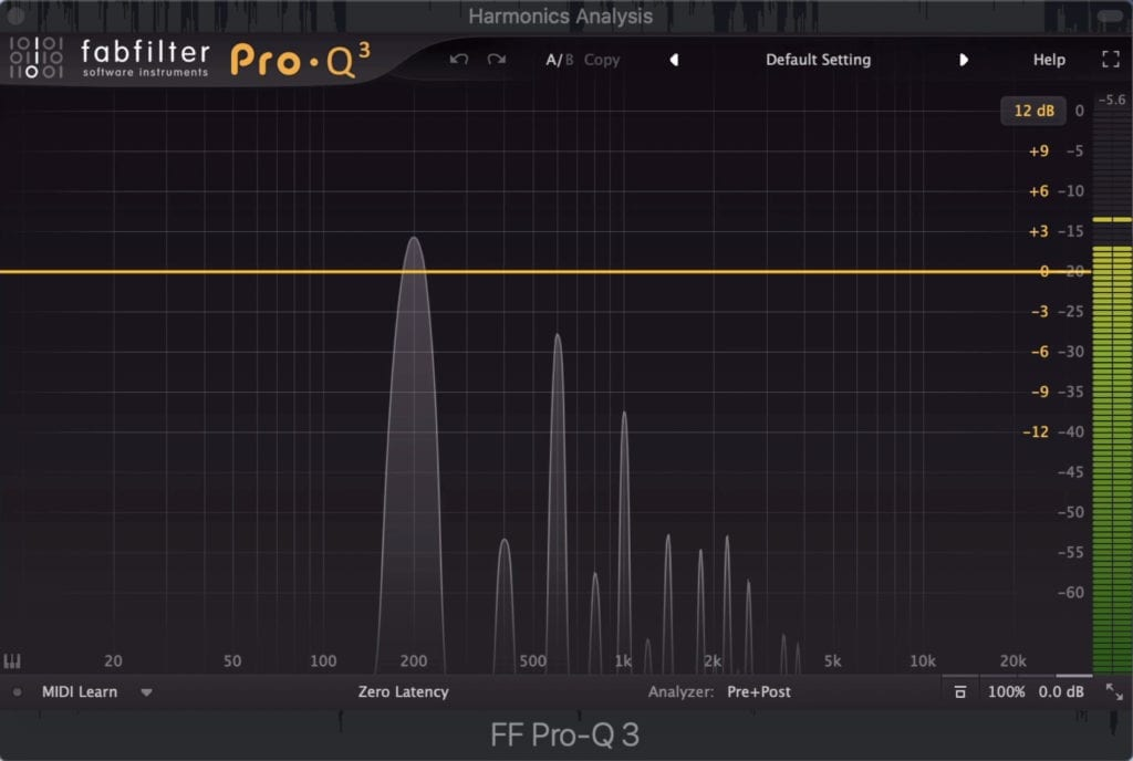 At higher levels of drive, this plugin generates even and odd harmonics.