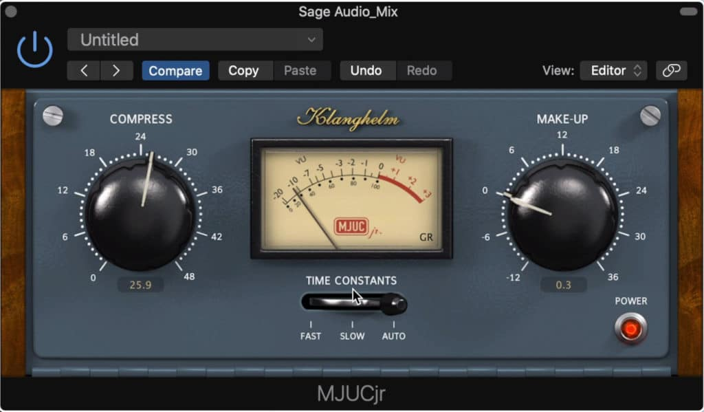 The MJUCjr is a simple compressor by Klanghelm