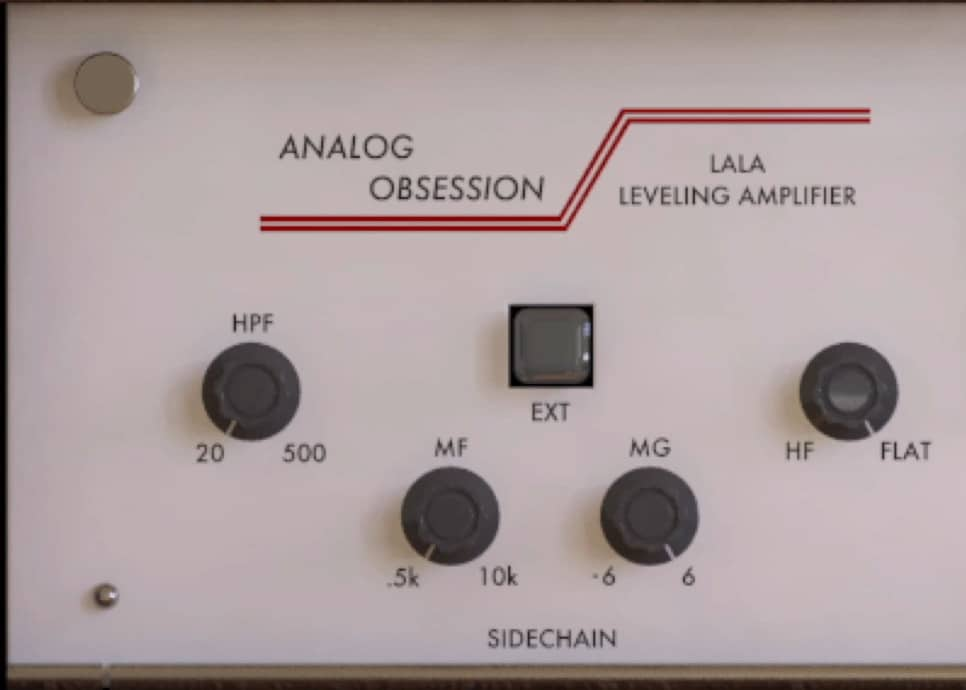 The LALA includes a side-chain section that isn't present on the original hardware.