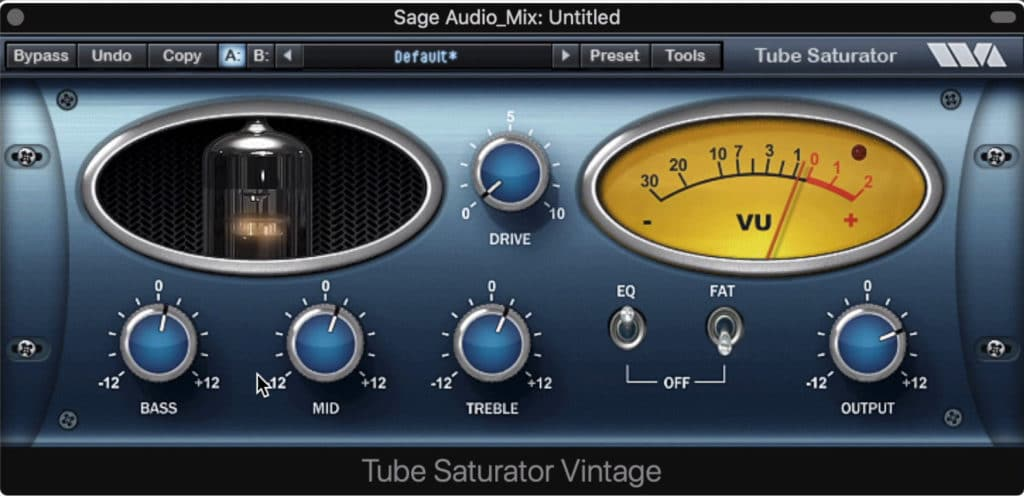 The Tube Saturator Vintage is an easy plugin to use.