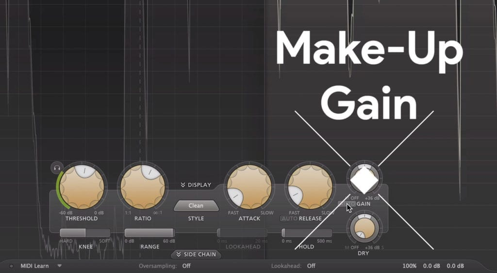 A compressor with make-up gain can be useful when mastering dialogue.