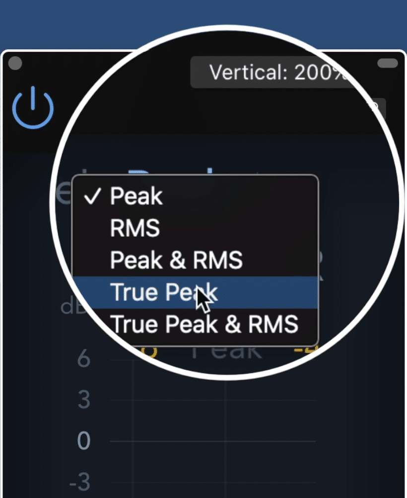 Be sure to use the true peak, not a regular peak setting.
