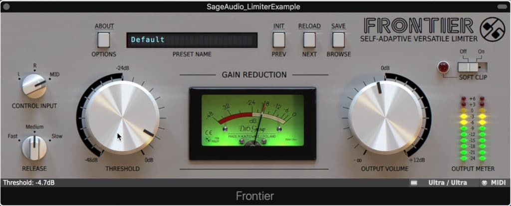 Frontier is a highly regarded free limiter.