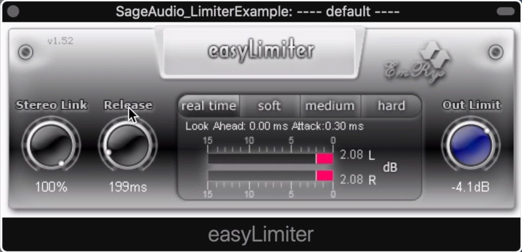 easyLimiter offers lookahead - something that isn't common with free limiters.