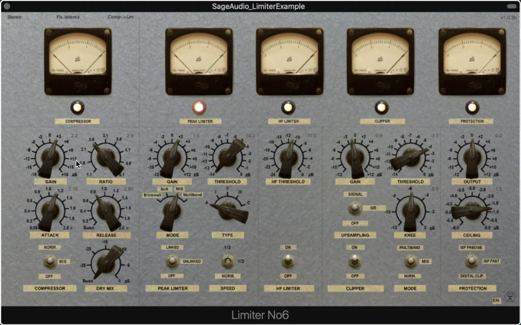 Limiter No.6 offers a analog emulation design.