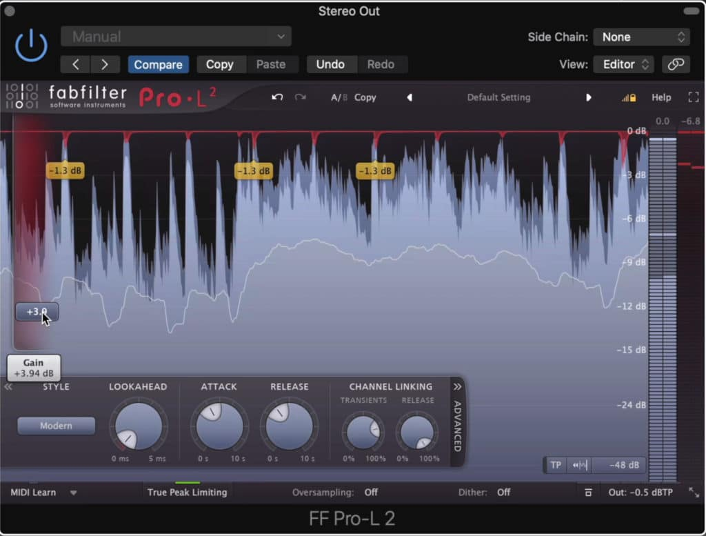 Limiters can cause distortion if you use them incorrectly.