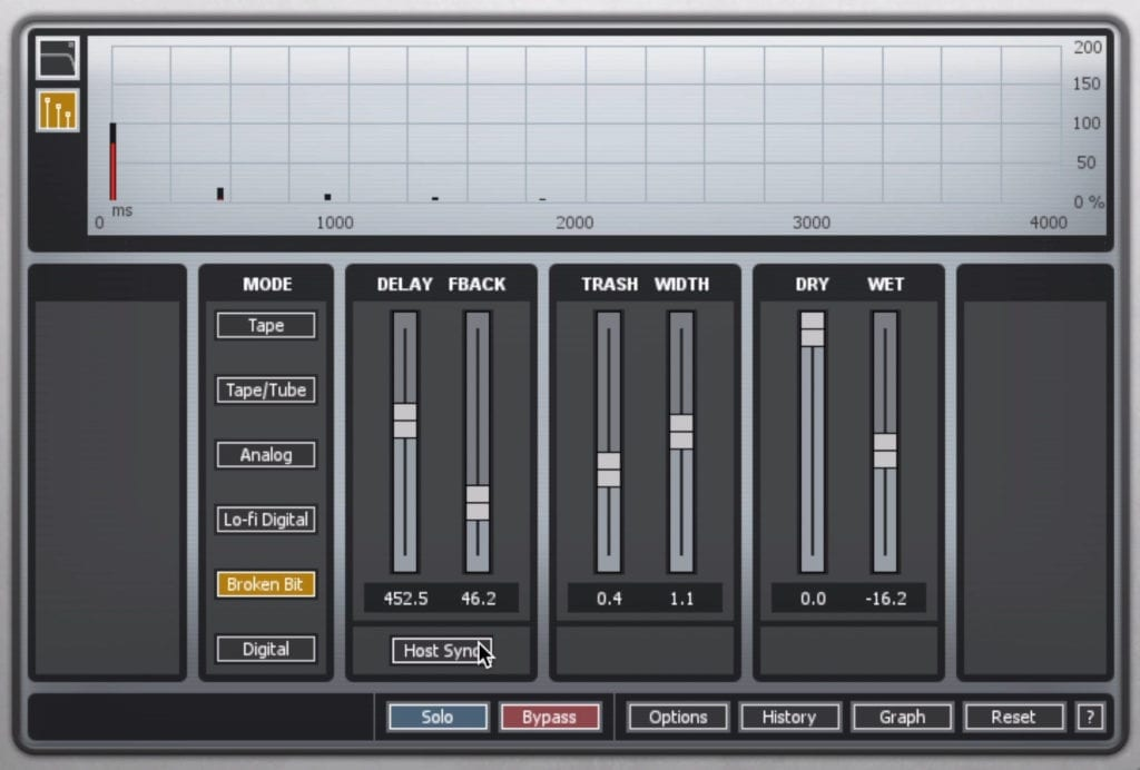 You can introduce delay that's indicate of particular processing types, like tape and tube.