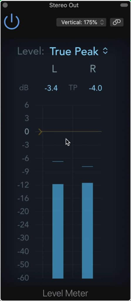 A stock dBTP meter typically comes standard with any DAW.